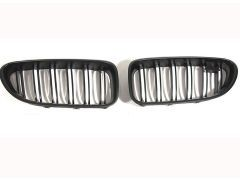 F06 grand coupe matte black grille set with double spoke grille