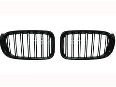 X3 F25 gloss black grille set with double grille