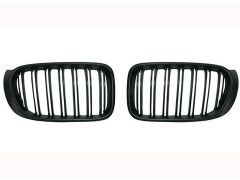 X3 F25 matte black grille set with double grille