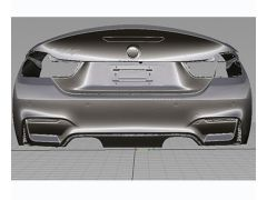 CSL Style Bootlid For F33 and F83 M4 models Single sided carbon fibre