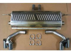 Eisenmann rear section  wit 2 x 120 x 77 mm tailpipes for all E70 X54.8i