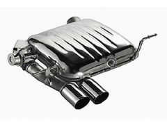 Eisenmann rear exhaust section with 2 x 76mm tailpipes for all E82 and E88 135i