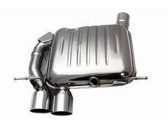 Eisenmann rear exhaust section with 2 x 83 mm tailpipes for all E82 and E88 135i