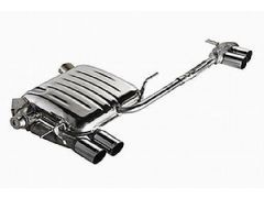 Eisenmann quad rear exhaust section with 4 x 76 mm tailpipes for all E82 and E88 135i