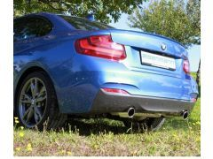 Eisenmann performacne rear silencer with 2 x 90 mm tailpipes for all BMW F22 M235i