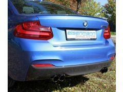 Eisenmann quad performance rear silencer with 4 x 76 mm tailpipes for all BMW F22 M235i