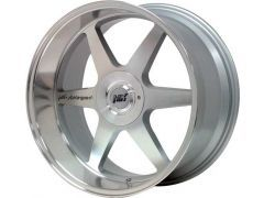 MK Motorsport wheel set in Silver with polished lip