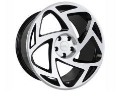 R8-S5 wheel set, Gloss black / polished, available in various sizes