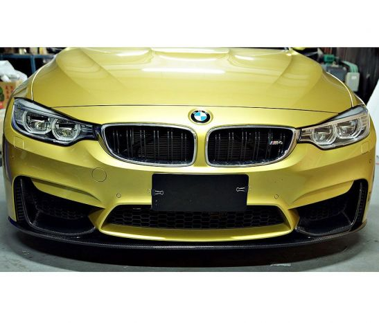 F80 F82 F83 M3 M4 M style performance front spoiler splitter set full carbon