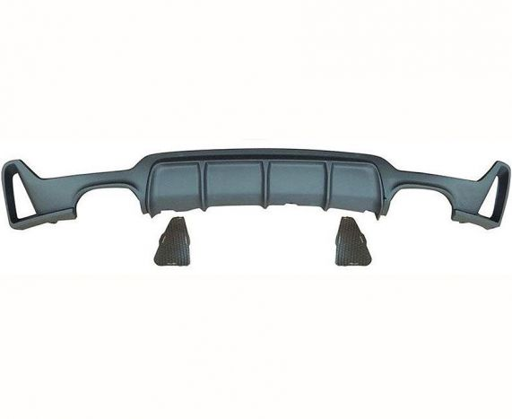 F32, F33 and F36 MStyle performance rear diffuser with quad exhaust