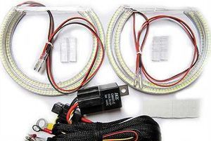 Superbright LED angel eye kit, for all E46 with projector (Except 2dr facelift) and all E36