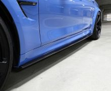 F8X carbon side skirt extensions