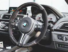 Carbon Fibre Steering Wheel w/ Alcantara
