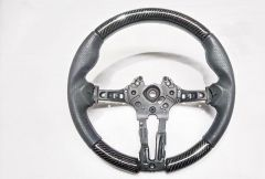 Carbon Fibre Steering Wheel w/ Leather