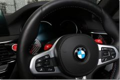 3D Design Carbon Paddle Shifters Red for BMW F Series Models