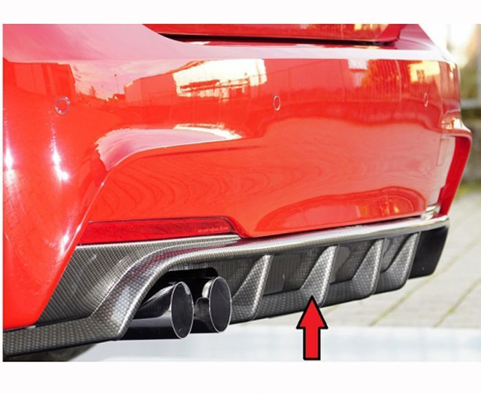 F30 F31 Rieger Rear Diffuser Carbon Look Bmw Mini Mstyle